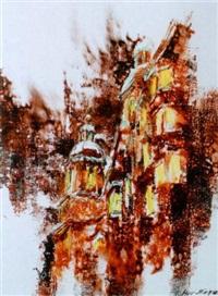 pfargasse mit blick auf dom in innsbruck by friedel auer-miehle