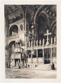 威尼斯圣马可大教堂内部建筑式样 by axel herman haig