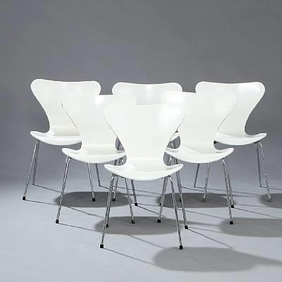seven chair model 3107 set of 6 by arne jacobsen