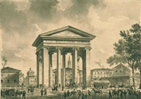 die porta ticinese in mailand by johann philipp veith