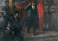 lenin entering petrograd by anatoli stepanovich karyakin