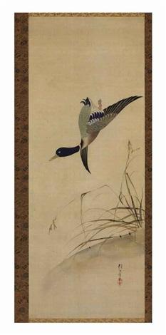 duck and reeds by sakai hoitsu