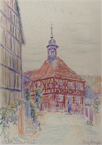 fachwerkhaus im maintal (sketch) by fritz bleyl