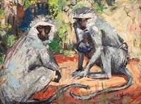 two monkeys by zakkie (zacharias) eloff