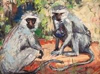 two monkeys by zakkie (zacharias) eloff