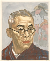 portrait of kichiemon nakamura by junichiro sekino