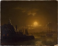 die kehrwiederspitze bei nacht by sebastian carl christian reinhardt