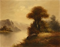 mountain river landscape by henry lewis