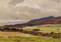 landscape near robin hood's bay, yorkshire by owen bowen