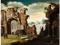 kleine, römische ruinenlandschaft by horatius de hooch