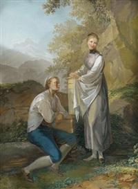 berner paar, im hintergrund der gurten by georg volmar