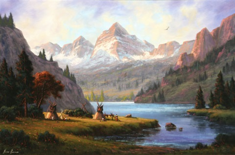 Camp Below Maroon Bells Colorado by Heinie Hartwig on artnet