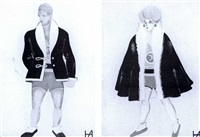two costume designs by nina evseevna aizenberg
