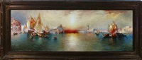 panoramic sunset venice canal scene by r.dey de ribcowski