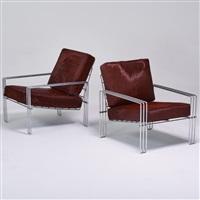 pair of lounge chairs by verner panton