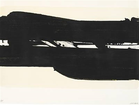 lithographie no 39 by pierre soulages