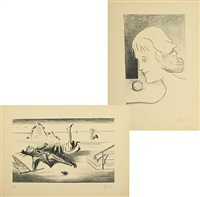 surreal compositions iv and vii (2 works) by wilhelm freddie