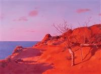 evening at the beach by boris leifer