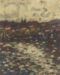 houses along the shore by stanislawa de karlowska