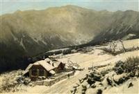 winter im riesengebirge by carl julius e. ludwig