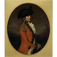 portrait of british officer by francis alleyne