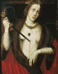 lucretia, sich erstechend by master of saint sang