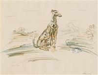 windhund by oskar kokoschka
