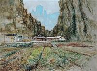 水绕四门 (the scenery) by ren zhengyin