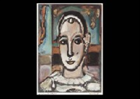 pierrot by lacourière by georges rouault