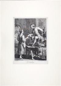 l'astrologo (+ i burattini; 2 works after francesco magiotto) by giovanni volpato