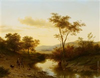 abendstimmung am fluss by cornelis lieste
