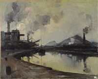 paysage industriel by pierre paulus