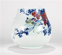 粉彩「池塘晴晨」瓷瓶 (porcelain vase with flowers pattern) by xu yafeng