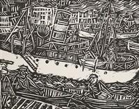 marseille - blick auf die stadt mit booten by paul gangolf