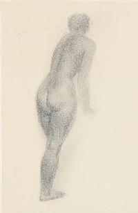 female nude, back turned by gerhard henning