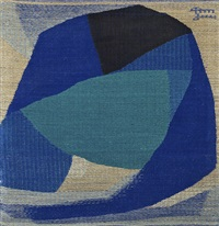abstract blue by dora jung