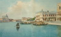 the grand canal (+ st.marks, venice; pair) by eugenio benvenuti