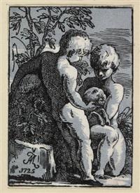 zwei knaben, einen hammel liebkosend by antonio maria zanetti