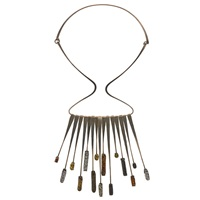 fringe necklace by elsa freund