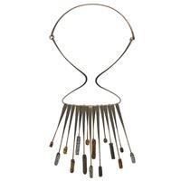 fringe necklace by elsa freund