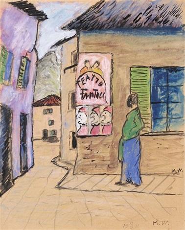 strassenecke in ascona teatro fantucci by marianne werefkin