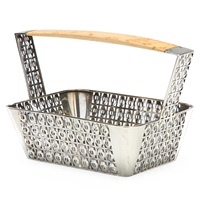 exceptional perforated bread basket in the ivy pattern (efeu gebuckelt) by josef hoffmann