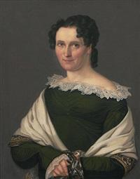 portrait der johanna dorothea thieme, gattin des conrad august thieme by gustav adolph henning