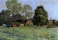 farm buildings, watermill farm, wenhaston, suffolk by edward holroyd pearce