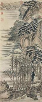 山水楼阁 by hong wu
