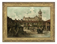 a village square by guiseppe riva