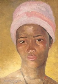 portrait of a young african woman by axel francis zeraava eriksson