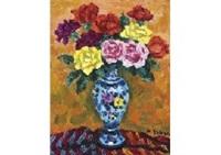 rose in spanish pot by kenkichi kodera