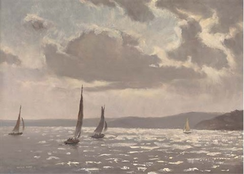 sailing in the solent england by leslie kent