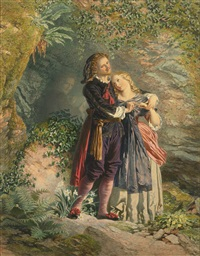 ferdinand and miranda (from the tempest) by henry anelay